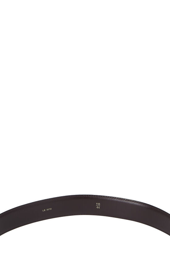 Burgundy Taiga Leather Ceinture 110, , large image number 3
