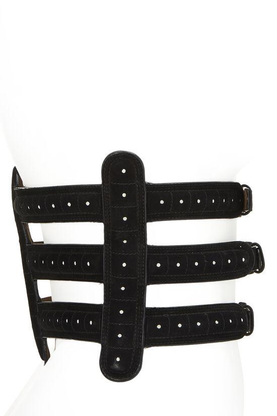 Black Suede Corset Belt 75, , large image number 2