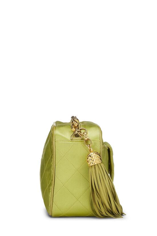 Green Quilted Satin Pocket Camera Bag Mini, , large image number 2