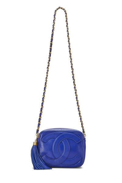 Blue Lambskin 'CC' Camera Bag Mini, , large