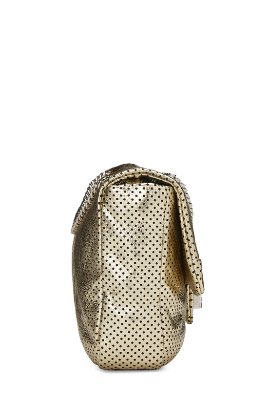Metallic Gold Perforated Leather 2.55 Reissue Flap 227, , large image number 2