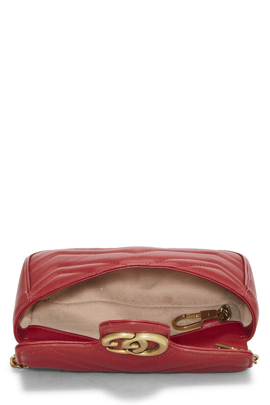 Red Leather Marmont Crossbody Extra Mini, , large image number 6