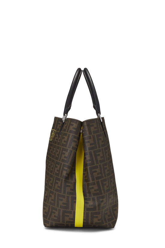Brown Zucca Coated Canvas Roma Shopping Tote, , large image number 3
