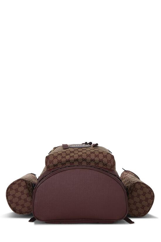Burgundy GG Canvas Backpack Large, , large image number 4