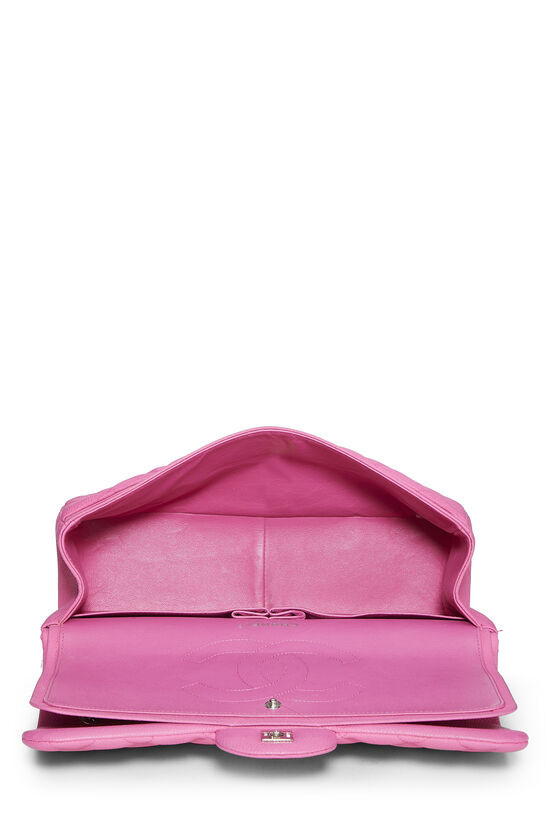 Pink Quilted Caviar New Classic Double Flap Jumbo, , large image number 5