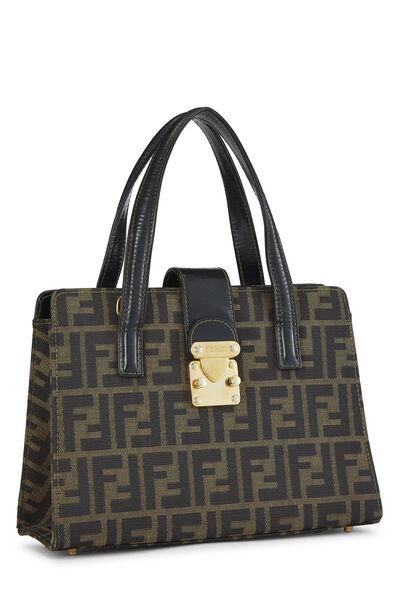 Brown Zucca Canvas Handbag Small, , large