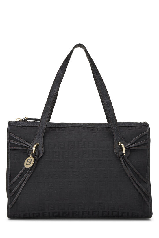 Black Zucchino Canvas Handbag Small, , large image number 0