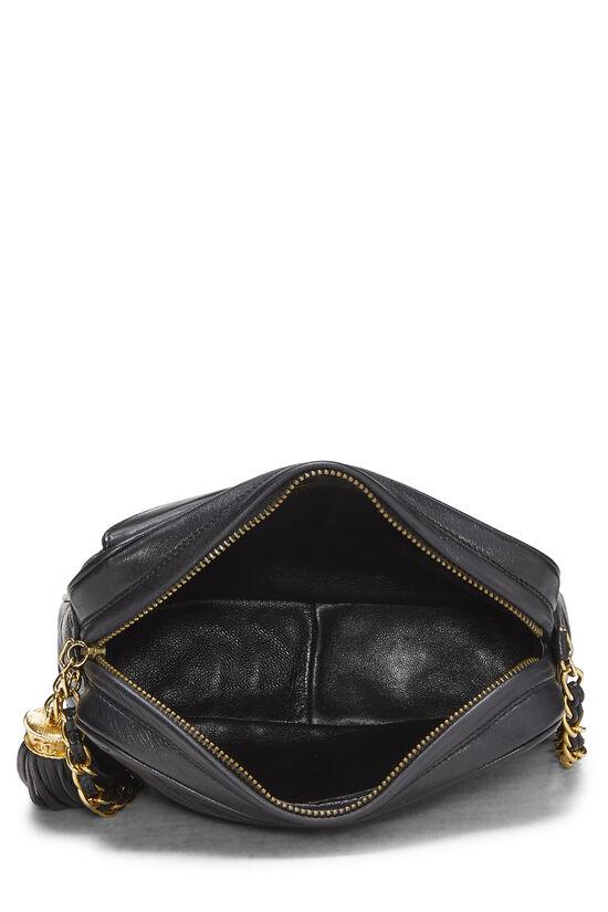 Black Lambskin Diagonal Camera Bag Small, , large image number 5