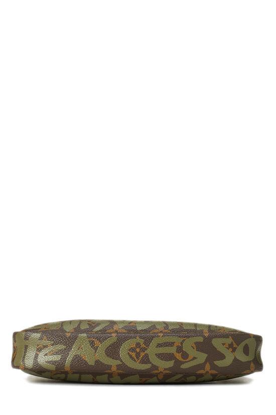 Stephen Sprouse x Louis Vuitton Green Monogram Graffiti Pochette Accessoires, , large image number 5