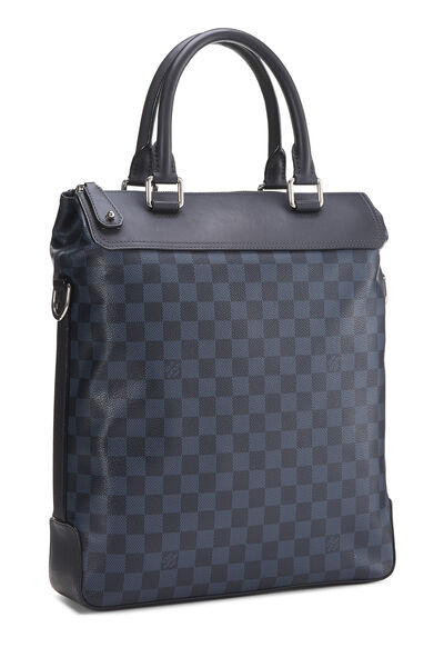 Damier Cobalt Greenwich Tote, , large