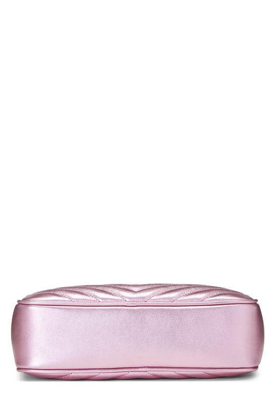 Metallic Pink Quilted Calfskin Lou Camera Bag, , large image number 5