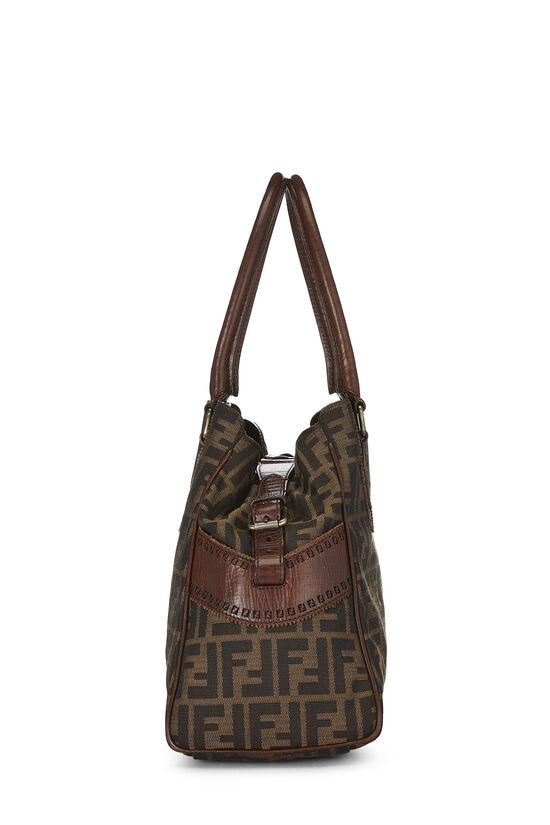 Brown Zucca Canvas Bag Du Jour, , large image number 2