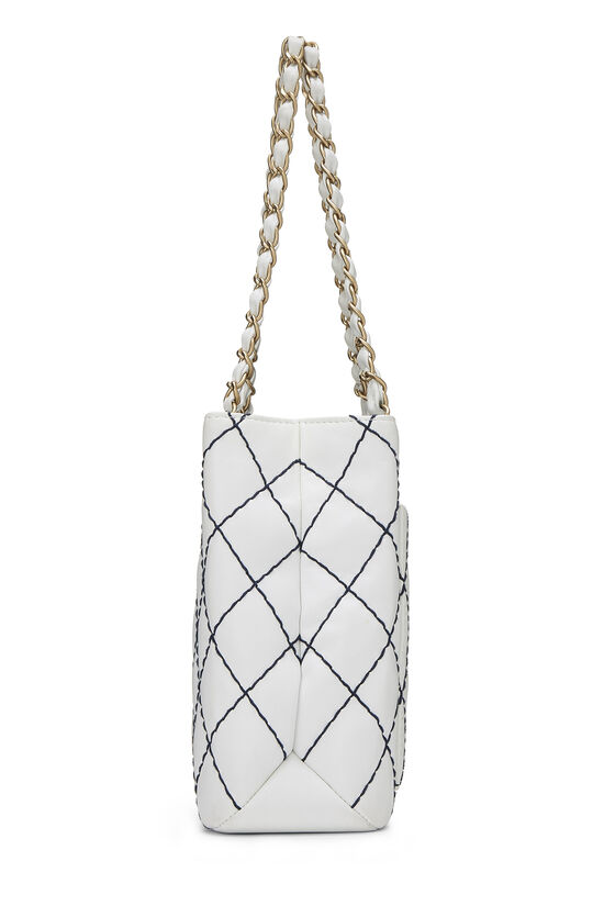 White Calfskin Wild Stitch Tote, , large image number 2