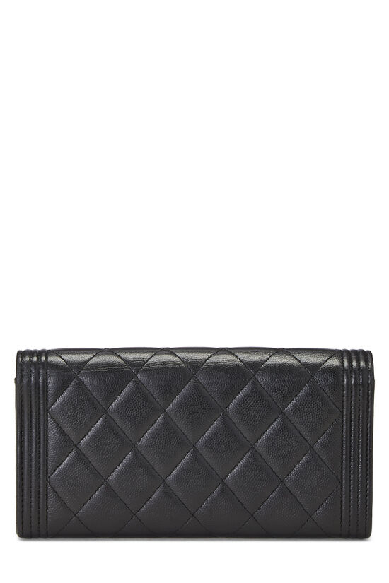Black Quilted Caviar Boy Wallet, , large image number 2