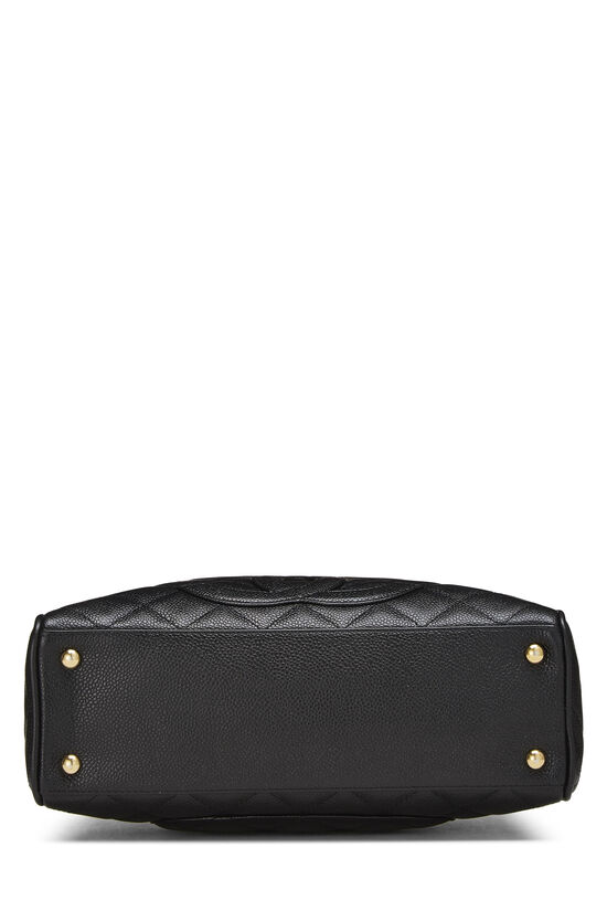 Black Quilted Caviar Bowler Mini, , large image number 4
