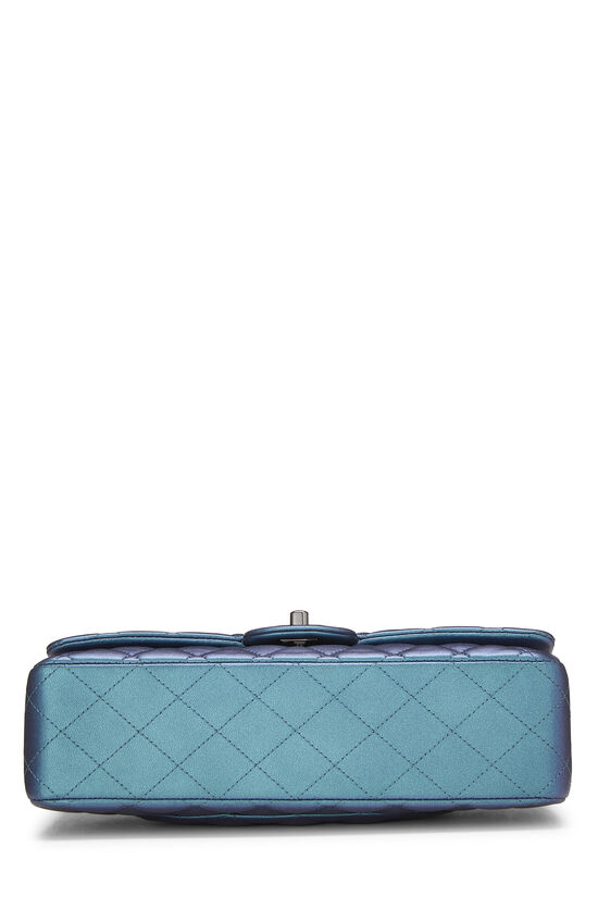 Iridescent Blue Quilted Lambskin Classic Double Flap Medium, , large image number 4