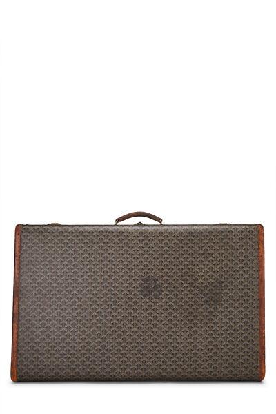 Black Goyardine Coated Canvas Suitcase