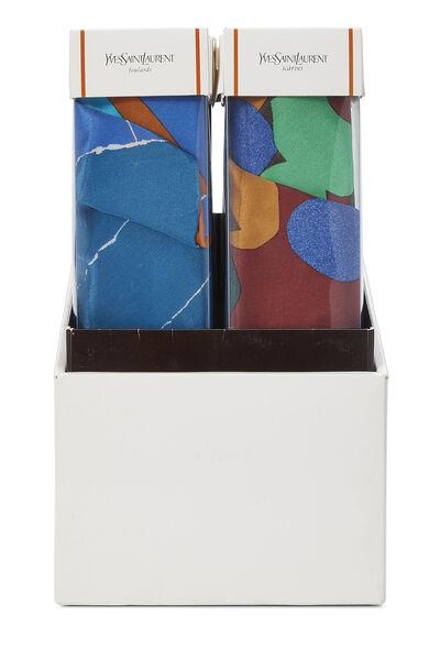 Multicolor Silk Seasons Scarf Set