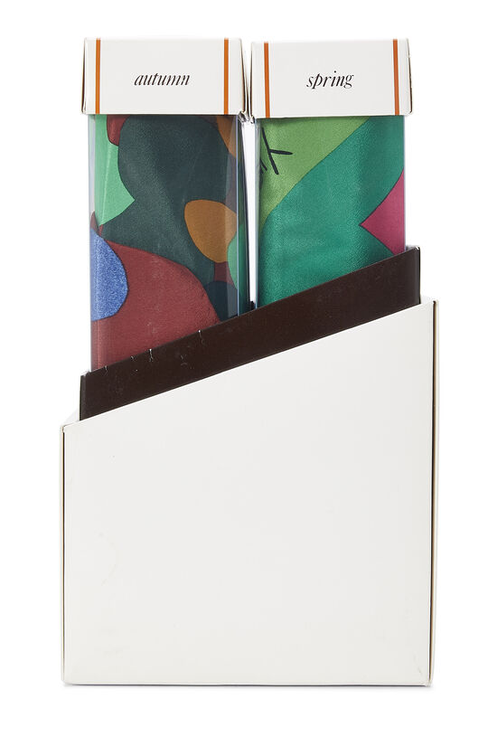 Multicolor Silk Seasons Scarf Set, , large image number 3