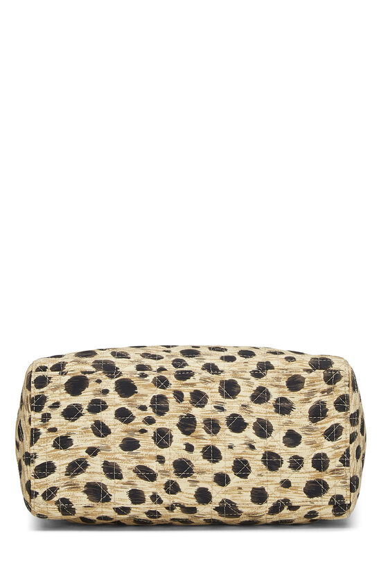 Brown Animal Print Cannage Quilted Nylon Lady Dior Medium, , large image number 4