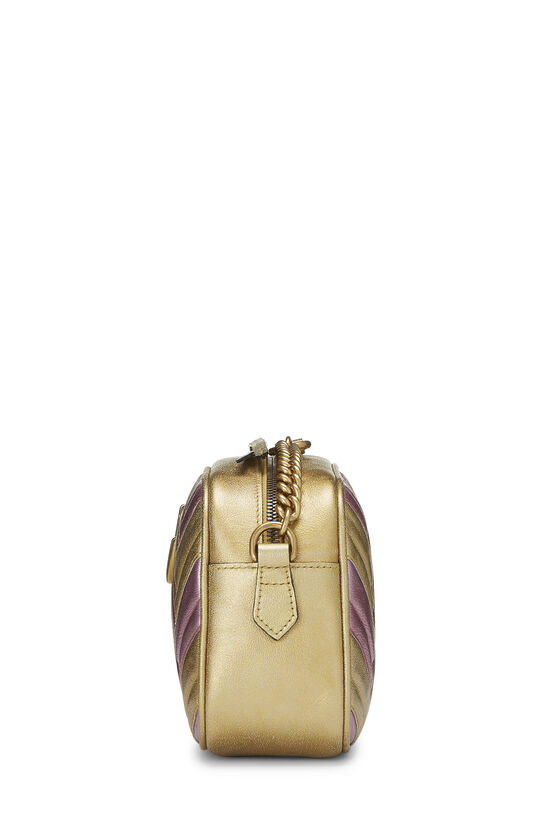 Pink & Gold Leather GG Marmont Crossbody Small, , large image number 3