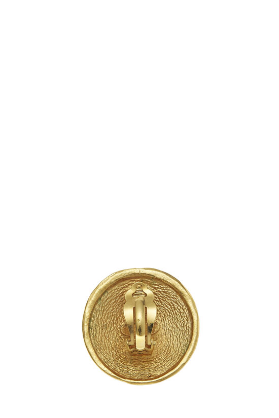 Gold Rue Cambon Engraved Earrings, , large image number 1