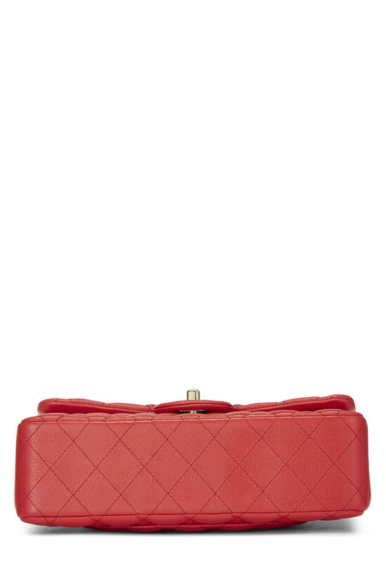 Red Quilted Caviar Classic Double Flap Small, , large image number 4
