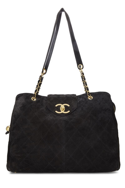 Black Quilted Suede Supermodel