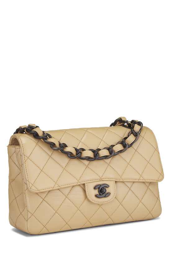 Beige Quilted Lambskin Classic Flap Medium, , large image number 2
