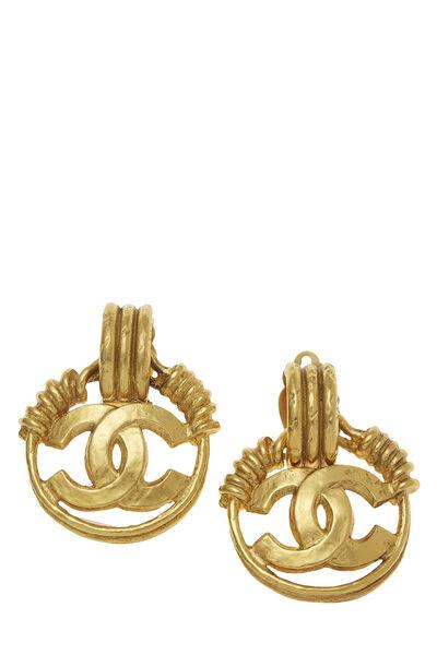 Gold 'CC' Spring Earrings