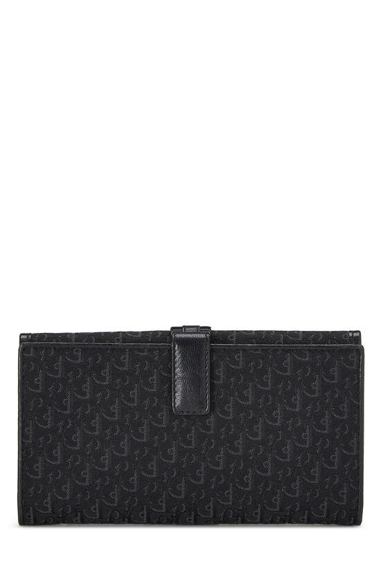 Black Trotter Canvas Flap Wallet, , large image number 2