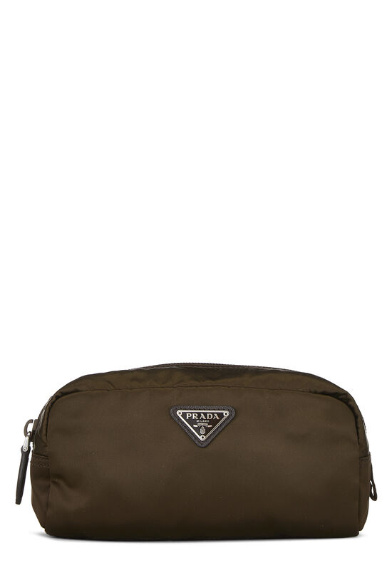 Brown Nylon Pouch, , large image number 0