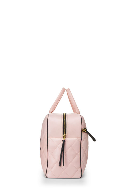Pink Quilted Calfskin Bowler, , large image number 2