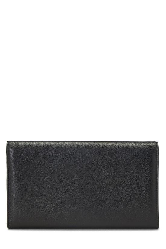Black Calfskin Camellia Wallet, , large image number 2
