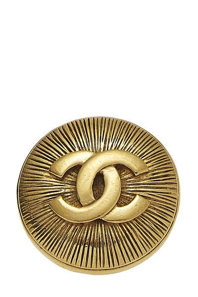 Gold 'CC' Sunburst Pin