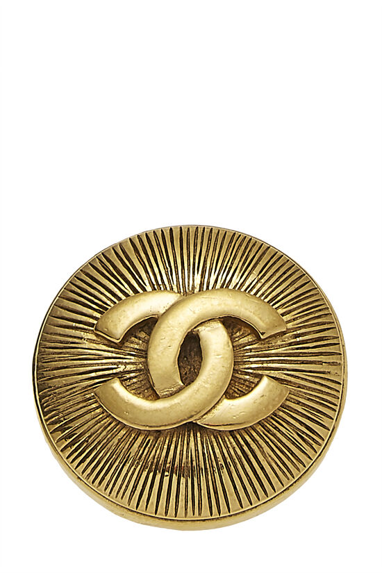 Gold 'CC' Sunburst Pin, , large image number 0