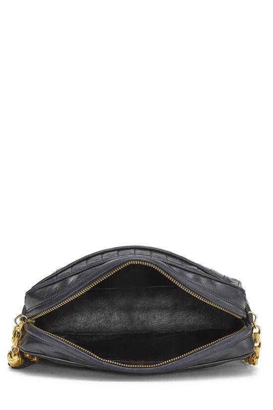Black Vertical Lambskin Pocket Camera Bag Large, , large image number 6