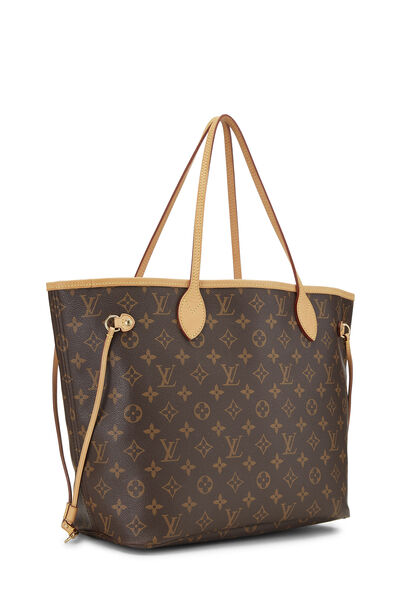 Red Monogram Canvas Neverfull MM NM, , large