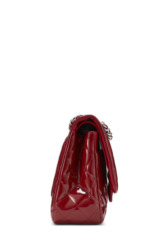 Red Quilted Patent Leather New Classic Double Flap Jumbo, , large image number 2