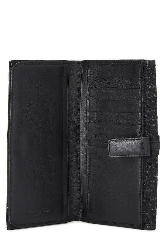 Black Trotter Canvas Flap Wallet, , large image number 3
