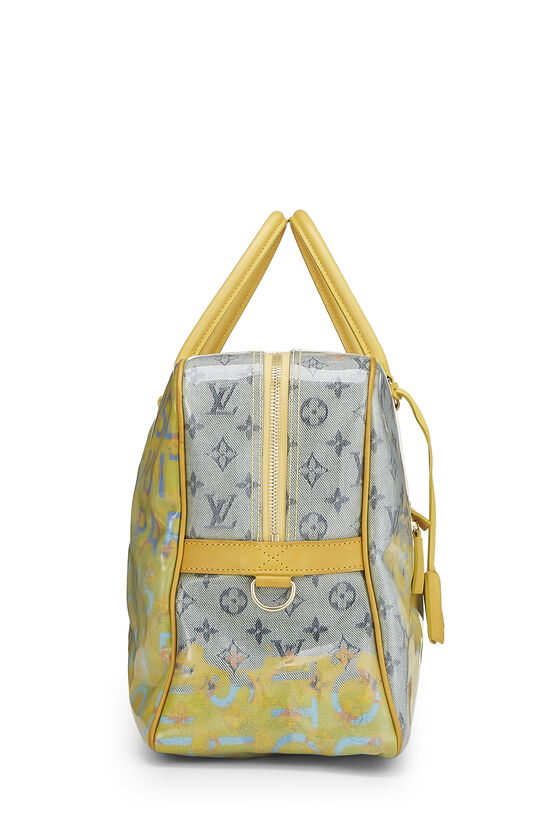 Richard Prince x Louis Vuitton Jaune Denim Pulp Weekender GM, , large image number 2