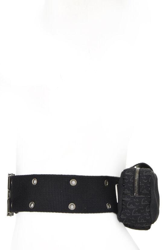Black Oblique Canvas Belt Bag, , large image number 2