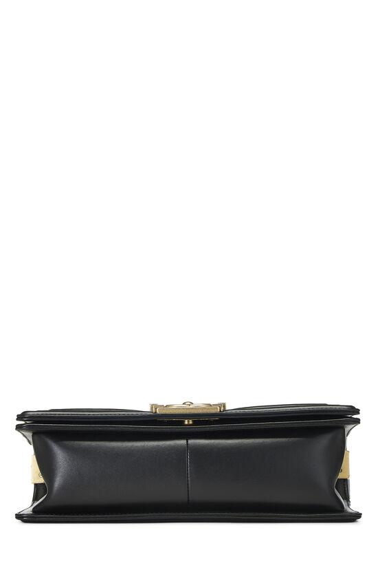 Black Quilted Lambskin Boy Bag Medium, , large image number 5
