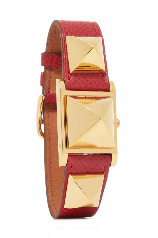 Red Courchevel & Gold Medor Watch, , large image number 0