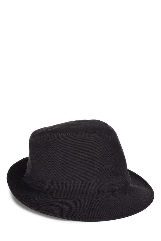 Black Corduroy Bucket Hat, , large image number 0