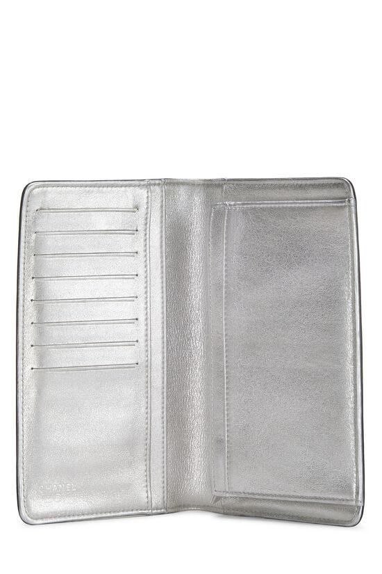 Navy & Silver 'CC' Calfskin Wallet Long, , large image number 3