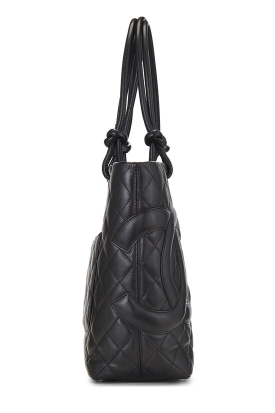 Black Quilted Calfskin Cambon Tote Small, , large image number 2