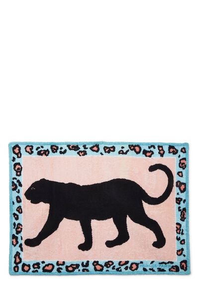 Blue & Pink Terry Cloth Panther Towel