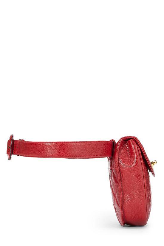 Red Quilted Caviar Belt Bag 32, , large image number 2