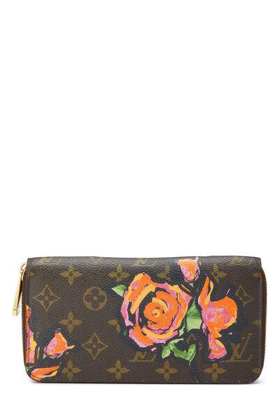 Stephen Sprouse x Louis Vuitton Monogram Roses Zippy Wallet